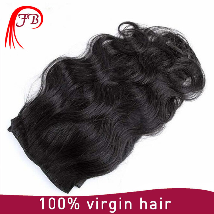 peruvian cheap wholesale price clip in hair extension natural black hair extension