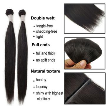 1/4Bundles 200g 100% Brazilian Straight Virgin Hair Weft Human Hair Bundles 8A