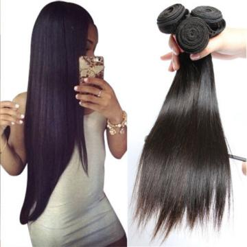 8A Brazilian Straight Virgin Remy Hair 3Pcs Unprocessed Mink Hair Weave10+12+14""