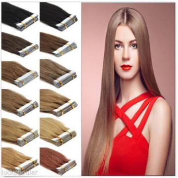 "AAAA+16""-24"" Tape In Skin Weft 100% Brazilian Virgin Remy Human Hair Extensions"