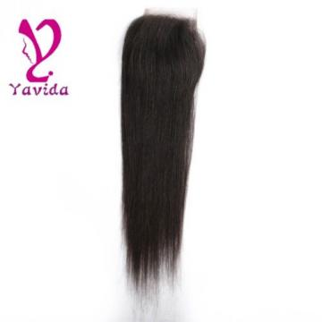 4 x4 Lace Closure 7A Unprocessed Brazilian Virgin straight Human Hair Extensions