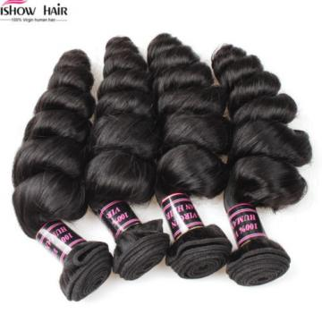 1/3/4 Bundle Virgin Brazilian Human Hair Weave Loose Wave Hair Extensions Weft