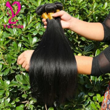 7A Virgin Brazilian Straight Human Hair Weaving Weft Extension 3 Bundle 300g