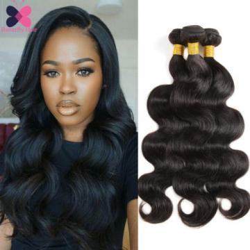 Unprocessed Virgin Brazilian Body Wave Human Hair Extension Weave 3 Bundles/300g