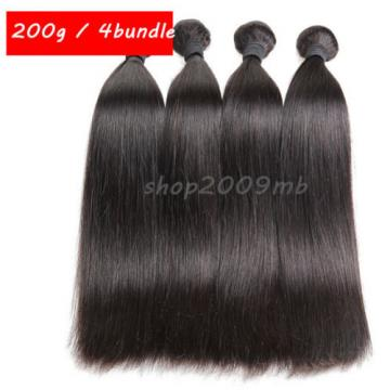 8A 1 Bundle 100% Remy Virgin Brazilian Human Hair Extensions Weft Straight Hair