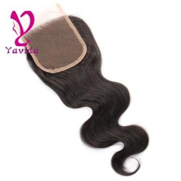 7A Unprocessed Brazilian Body Wave 4 x4 Lace Closure Virgin Human Hair Closure