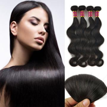 4 Bundles 200g 100% Brazilian Body Wave Virgin Hair Weft Striaght Body Wave 8A