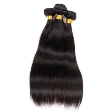 Brazilian 7A Straight Unprocessed Virgin Human Hair Extension Weave 3Bundle/150g