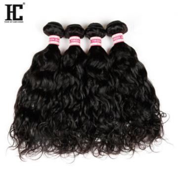 Grade 7a Natural Water Wave Brazilian Wavy Virgin Human Hair Extensions Weave HC