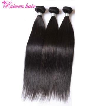 1 Bundle 100% Virgin Brazilian Straight Hair Extension Human Unprocessed Weave
