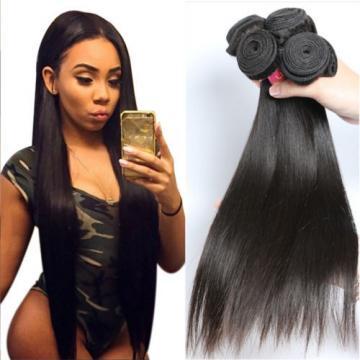 Brazilian virgin hair straight 3 bundles  Unprocessed  human hair natural black
