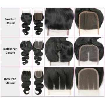 "Top Lace Closure Brazilian Virgin Remy 8A Human Hair Swiss Lace 4""x4"" Body Wave"