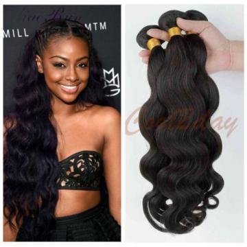 "10"" 3 Bundles Brazilian Virgin Body Wave Weave Weft 100% Human Hair Wavy 50g/pc"