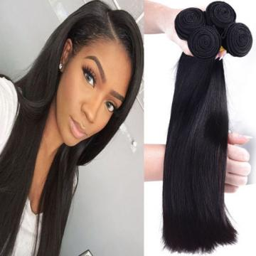 Straight Brazilian 4 Bundles/200g Real Human Hair Extensions 100% Virgin Weaves