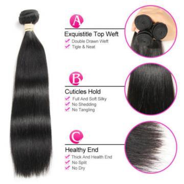 3 Bundles/150G Straight 100% Virgin Brazilian Real Human Hair Extensions weave