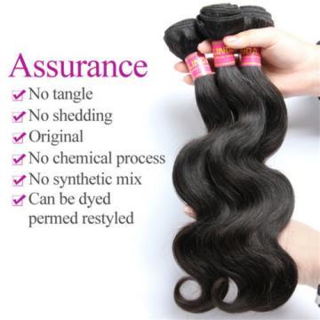 Brazilian Virgin Body Wave Weave Weft 100% Human Hair Body Wavy 3 Bundles/150g