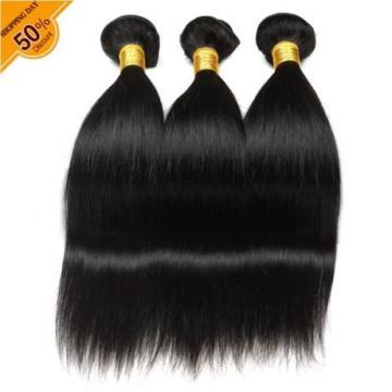 7A Brazilian hair 3 Bundles 300G Silk Straight Virgin Human hair Extension