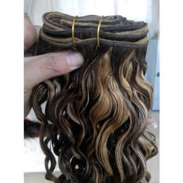 Brazilian Human Hair wavy Extensions mixed 4/27 color Weft Virgin Hair Weave
