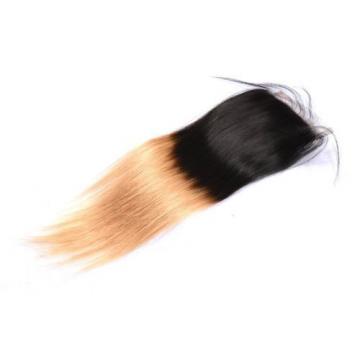 1PCS 4*4 Lace Closure Ombre Color 1b/27 Brazilian Virgin Hair Remy Hair Weave
