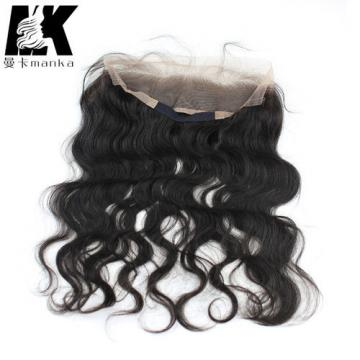 Wavy Brazilian Virgin Hair 360 Lace Frontal with Natural Hair Line Baby Hair