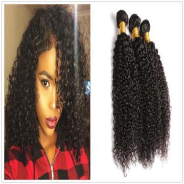 "7A Peruvian Virgin Human Hair Wefts Kinky Curly Hair Extensions 300G 14""+16""+18"""