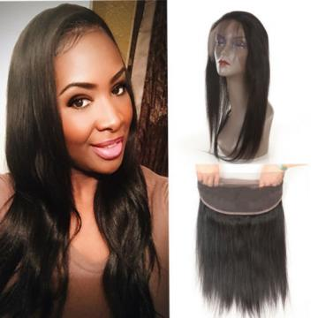 Unprocessed Peruvian Virgin Hair Ear To Ear Full Lace Band Closure Straight Wave