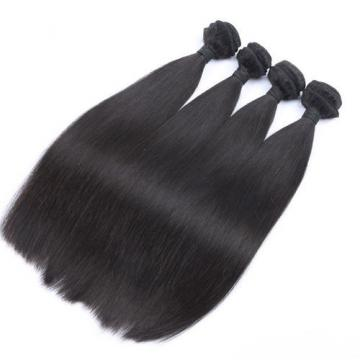 Peruvian Virgin Human Hair 3 THICKER Bundles & 1PC Lace Closure 4x4inch