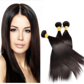3 Bundles 300g Unprocessed Virgin Hair Peruvian Straight Human Hair Extensions