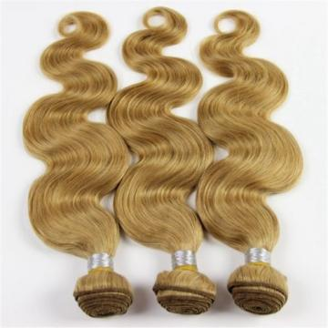 Blonde Peruvian 7A Virgin Human Hair Extension Body Wave Hair Weave Weft 2 PCS