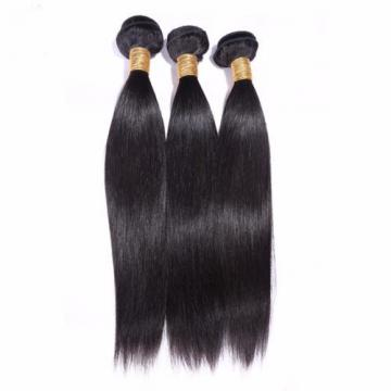"2P 14""Straight Virgin Hair Weave Peruvian Hair Bundles 100%Human Hair Extensions"