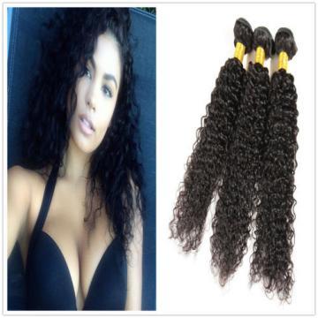 "7A Peruvian Virgin Human Hair Wefts Kinky Curly Hair Extensions 300G 18""+20""+22"""