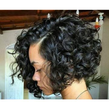 "100% Virgin-Brazilian-Peruvian-Malaysian Aunty Fummi Bouncy Curly- Hair 10""-28"""