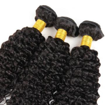 "7A Peruvian Virgin Human Hair Wefts Kinky Curly Hair Extensions 300G 22""+24""+26"""