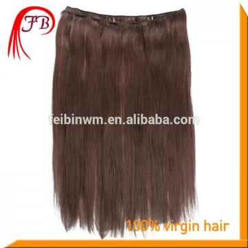Unprocessed Human Virgin Straight Hair Weft Brazilian Hair Color #2