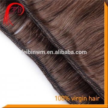 New Arrival 6A Human Virgin Straight Hair Weft Color #2 Italian Remy Hair