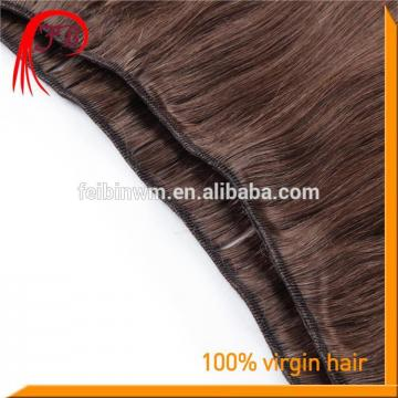 Best Selling 6A Human Remy Straight Hair Weft Color #2 Peruvian Virgin Straight Hair