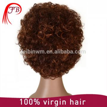 For white Women Brazilian Kinky Curl full lace Human Hair Wig