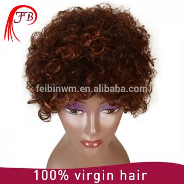 Best Selling Human Hair wig Grade 7A 100% short Curl Full Lace Wig For Black Woman