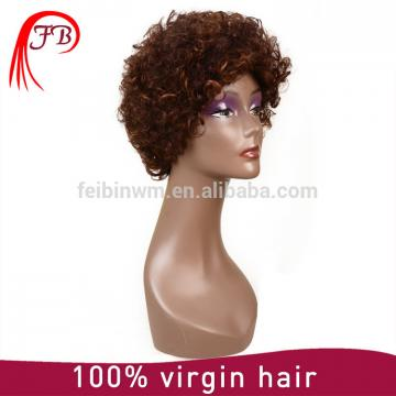 Brazilian virgin hair full lace human hair wig,kinky human hair wig