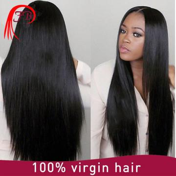 Aliexpress top quality unprocessed virgin hair lace front wig best for Black