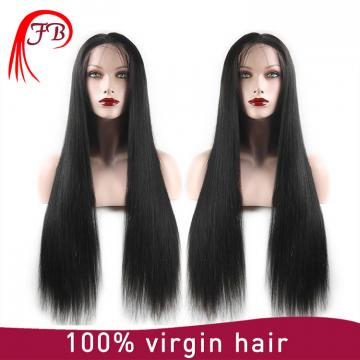 All Colors Wavy straight Texture 100% virgin Human Hair Lace Front Wigs