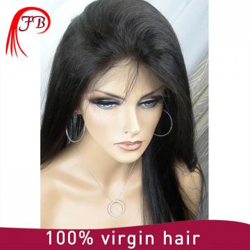 Unprocessed front lace virgin brazilian human hair lace front wig