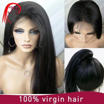 Fashionable 7A Grade Indian Human Hair Wigs Top Quality 1b color Virgin Hair Lace Front Wig