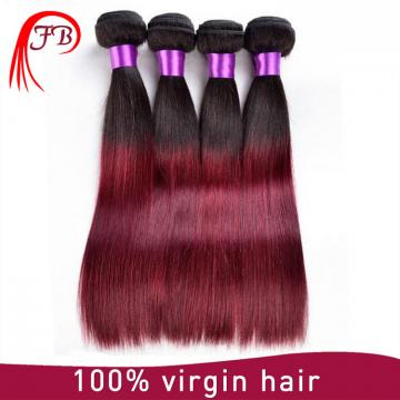 high quality wholesale price ombre color hair silky straight virgin brazilian hair extension