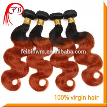 ombre remy hair weft Two Tone body wave beautiful 1B/350 human hair