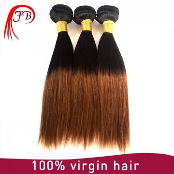 High quality grade 7a unprocessed hair two tone straight hair virgin ombre hair extension