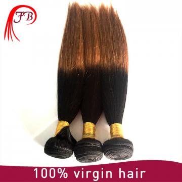 Fashion 1B/30 two tone hair silky straight ombre human hair weaving