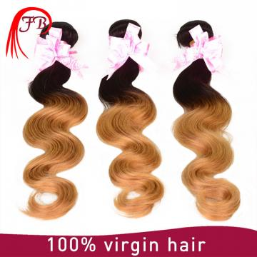 100% human ombre hair body wave Brazilian ombre hair extension