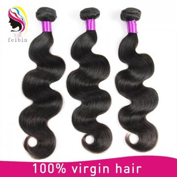 Wholesale Unprocessed Malaysian 7A body wave 100% Virgin brazilian hair Extension in stock