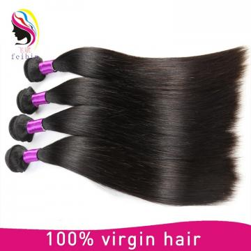 100 raw unprocessed hair extension real mink straight hair natural hair from peruvian